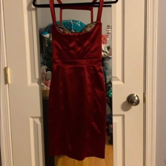 bebe Dresses & Skirts - Red satin dress